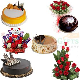 Online Birthday Flower Cake Gifts home delivery services to   Gandhinagar at Midnight