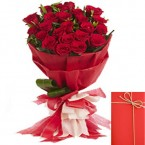 send Designer Bouquet of Red Roses delivery