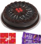 send Half Kg Chocolate Traffle Cake n Chocolate Starter delivery