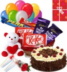 send Black Forest Cake Chocolate Teddy Balloons for Any Occasion delivery