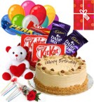 send Butterscotch Cake Chocolate Teddy Balloons for Any Occasion delivery