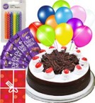 send 1Kg Black Forest Cake Mini n Chocolate Gifts delivery