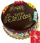 send 1Kg Special Cadbury Games Chocolate Cake n Greeting Card delivery