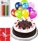 send Yummy Eggless Black Forest Cake N Gifts delivery