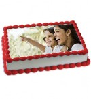 send 1Kg Eggless Vanilla Photo Cake delivery