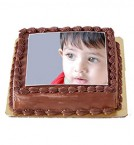 send Order1Kg Chocolate Photo Cake Delivery