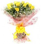 send 10 Yellow Roses Flower Bouquet delivery