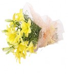 send 4 Lilies Bouquets delivery