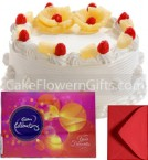 send 1Kg Pineapple Cake Cadbury Celebration Gift Box delivery