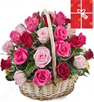 send 20 Red Roses Basket Gifts delivery