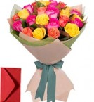 send 30 Mix Roses Bouquet delivery