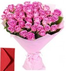 send 35 Mix Roses Bouquet delivery