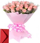 send 40 Pink Roses Bouquet delivery
