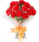 send 10 Red Carnations Bouquets delivery