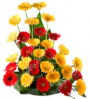 send Red n Yellow Gerberas Bouquet delivery