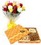 send 500 Gms Dry Fruits Rose delivery
