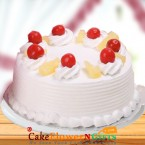 send OrderHalf Kg Pineapple Fresh Cream Cake Delivery