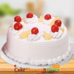 send 1Kg Pineapple Fresh Cream Cake delivery