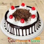 send Eggless Black Forest Half Kg Any Occasion delivery