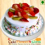 send Half Kg Mix Fruit Eggless Cake delivery