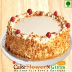 send Eggless Butterscotch Cake Half Kg Any Occasion delivery