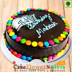 send Eggless Chooclate Jems Cake 500gms delivery