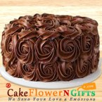 send 1Kg Eggless Roses Chocolate Cake delivery
