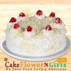send 1 Kg White Forest Cake delivery