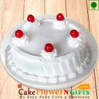 send 1Kg Eggless Vanilla Cake delivery