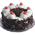 send Half Kg Eggless black forest cake delivery