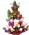 send Flower Teddy Chocolate Bouquet delivery
