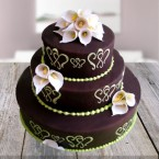 send 4kg Designer Chocolate Mountain Cake delivery