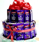 send New Dairy Milk Chocolate Bouquet Arrangement delivery