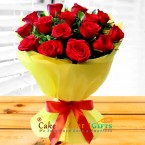 send 15 Red Roses Flower Bouquet delivery