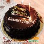 send 1 kg eggless tempting chocolate truffle cake delivery