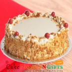 send OrderHalf kg Butterscotch Cake Any Occasion Delivery