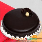 send half kg eggless dark chocolate cake delivery