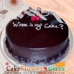 send 1kg eggless chocolate truffle cake delivery