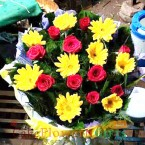 send roses n gerberas bouquet delivery