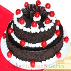 send 2 Tier Black Forest Cake 3 KG delivery