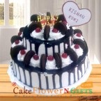 send 2 tier black forest oreo cake 3 kg delivery