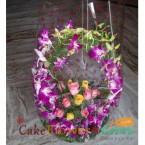 send orchid n roses basket delivery