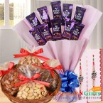 send 1kg dry fruits chocolate bouquet rakhi gifts delivery