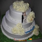 send 3kg 2 tier vanilla beauty cake delivery