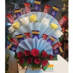 send roses kit kat dairy milk chocolate bouquet delivery