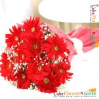 send 10 red gerberas bouquet delivery