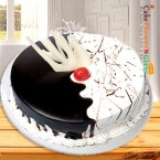 send 1kg eggless choco vanilla fusion cake delivery