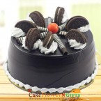 send half kg oreo chocolate flavored cake  delivery