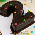 send 2kg eggless Single Number Chocolate Cake delivery