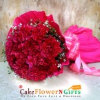send 10 red carnation flowers bouquet delivery